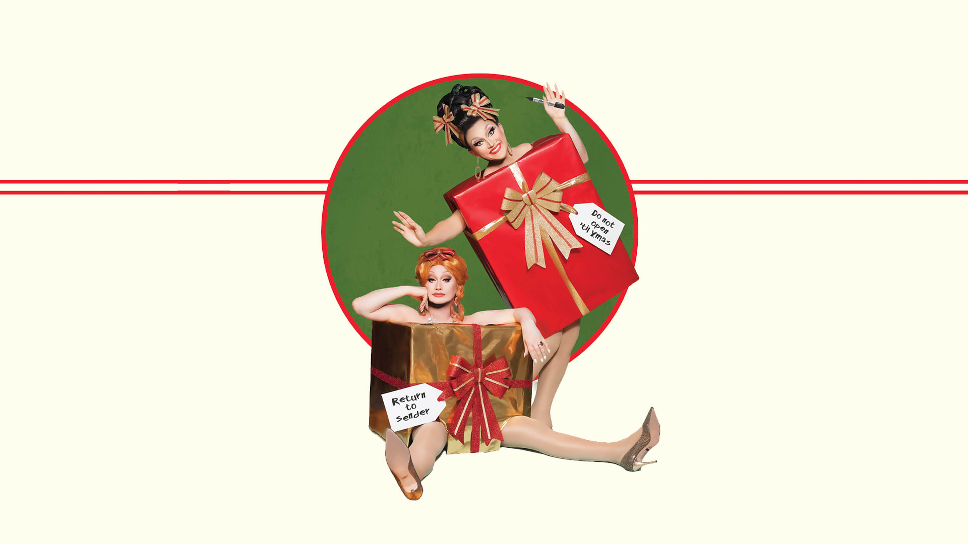 Jinkx Monsoon and BenDeLaCreme - All I Want for Christmas is Attention Header Asset