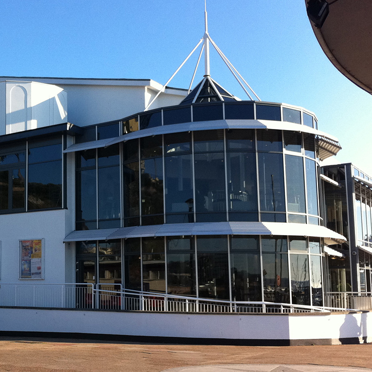 This is the Princess Theatre, Torquay - external.