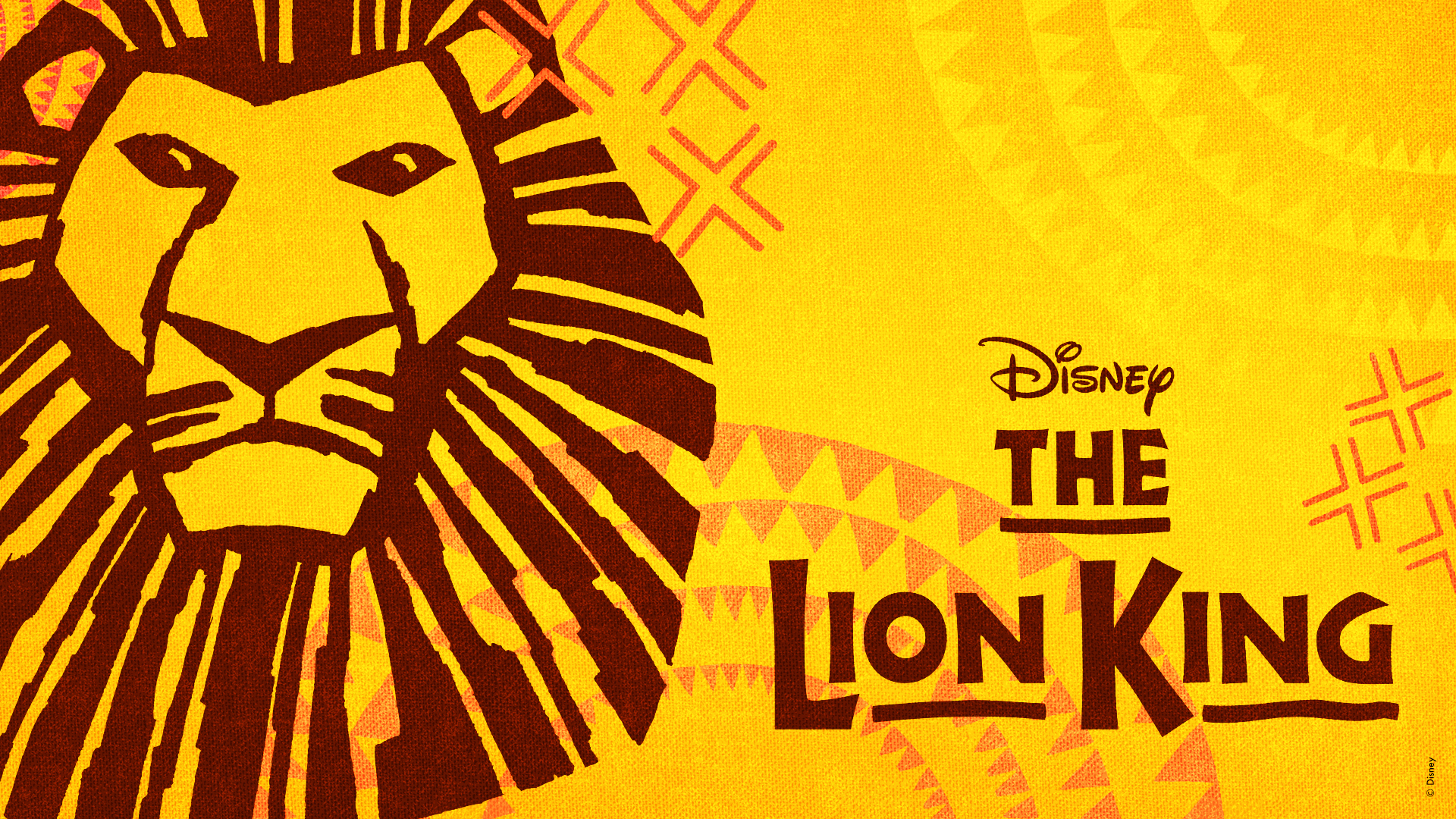 The iconic Disney's The Lion King logo.