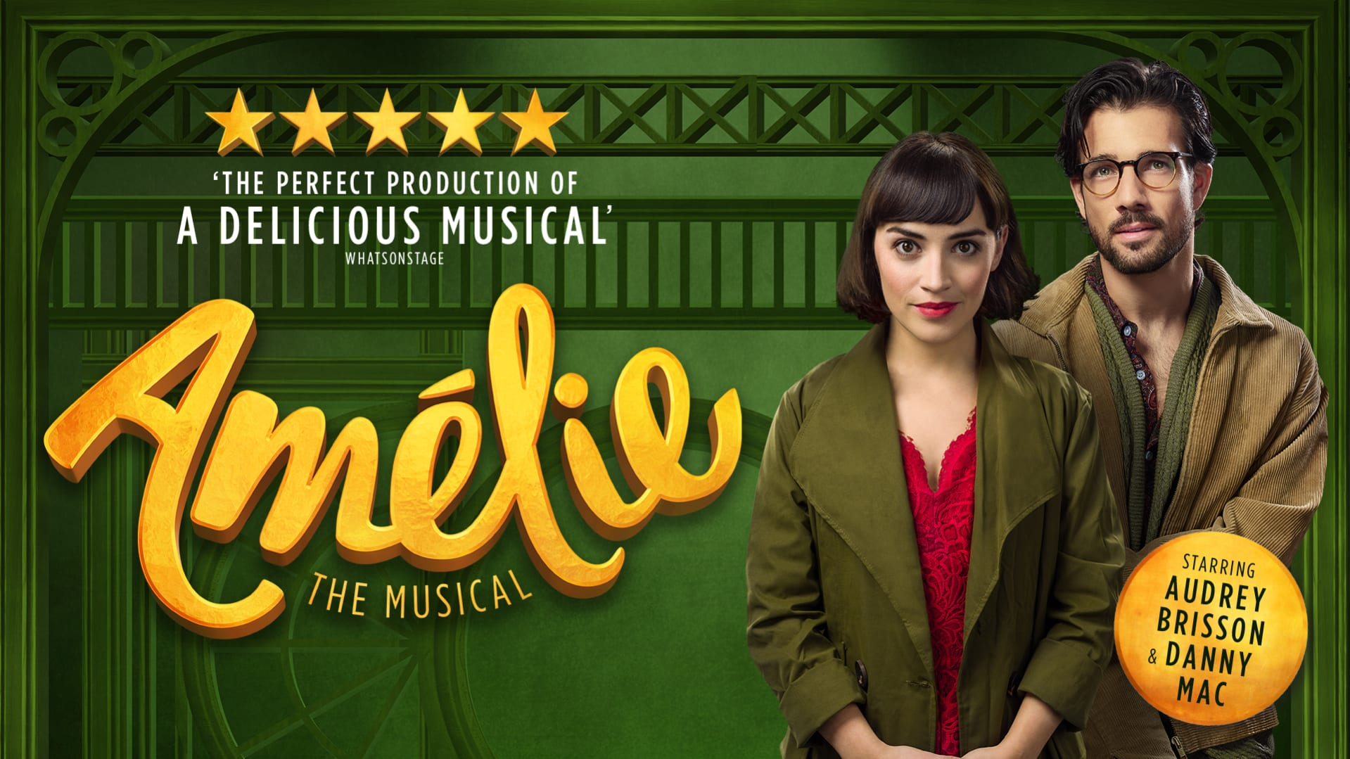 amelie the musical audrey brisson danny mac not just a tit lifestyle blogger theatre review manchester opera house