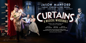 Curtains at New Wimbledon Theatre