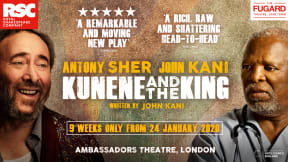 Kunene and the King at Ambassadors Theatre