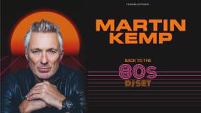 Martin Kemp Back to the 80s DJ Set at Leas Cliff Hall, Folkestone