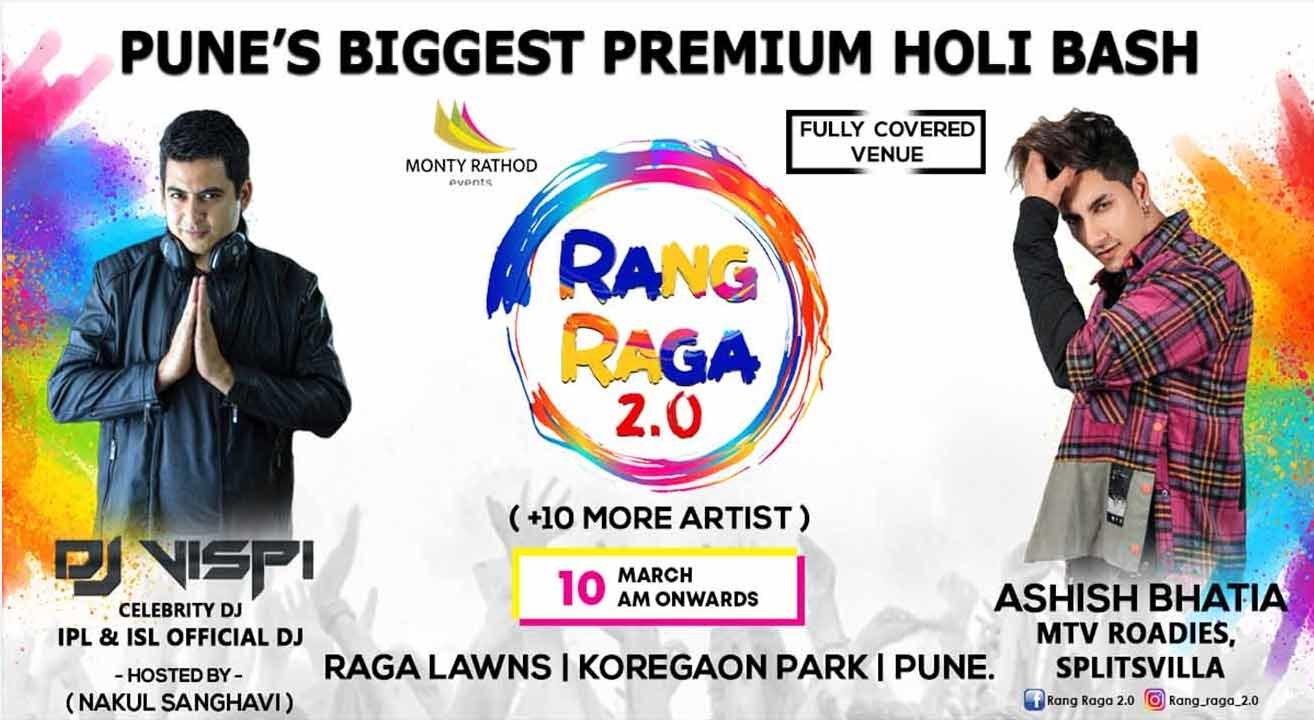 Rang Raga 2.0 – Biggest Premium Holi Bash in Pune