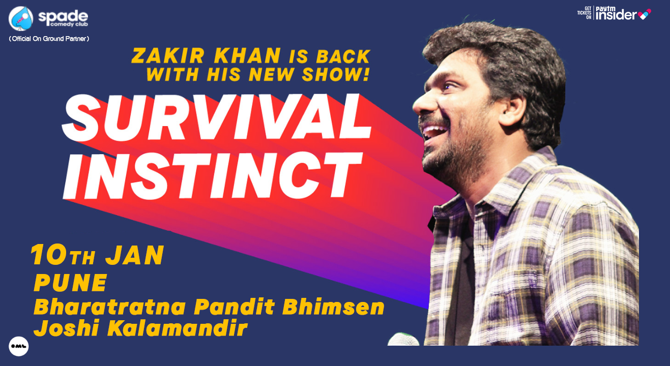 Survival Instinct A New Stand up Special by Zakir Khan | Pune