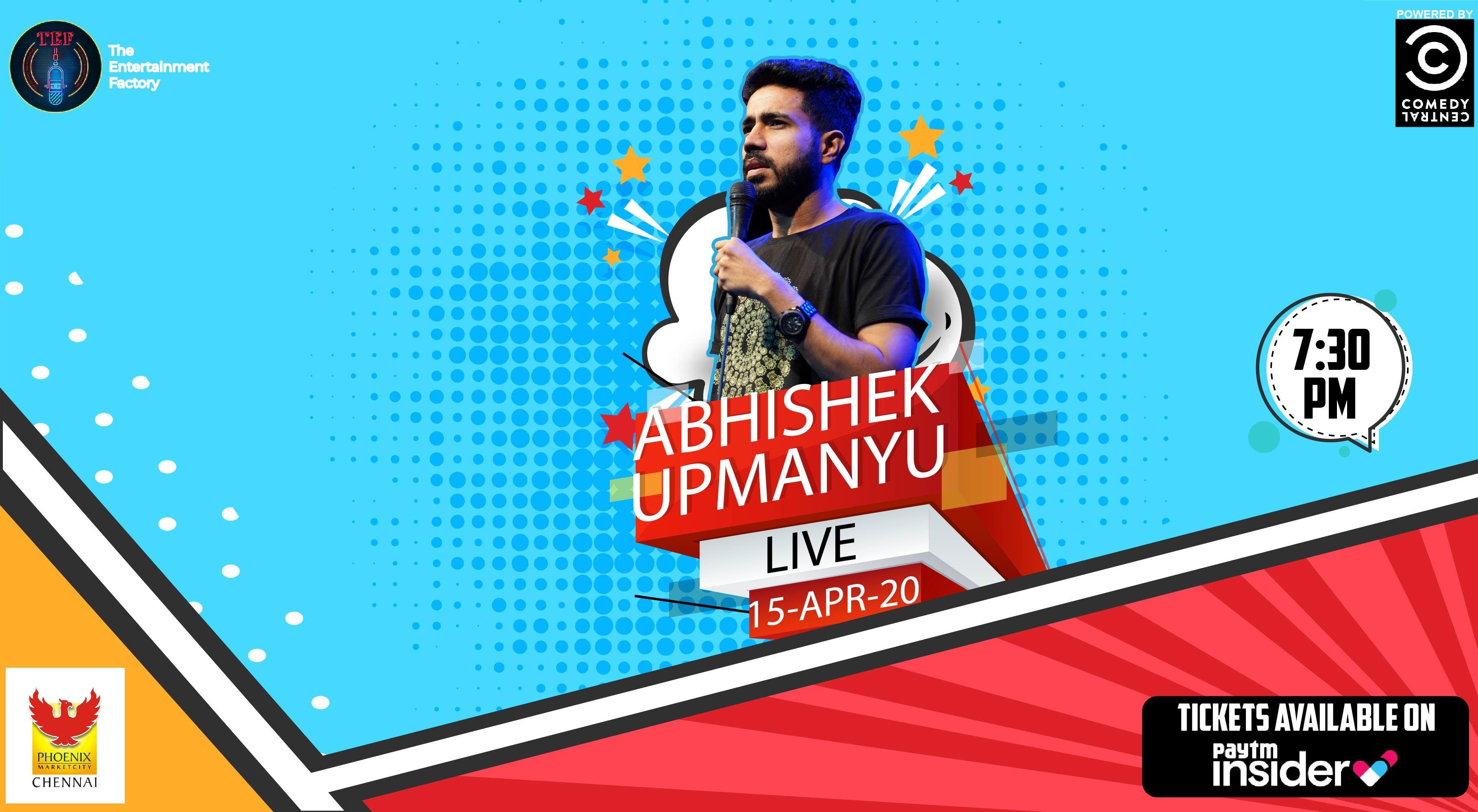 Abhishek Upmanyu Live | Chennai