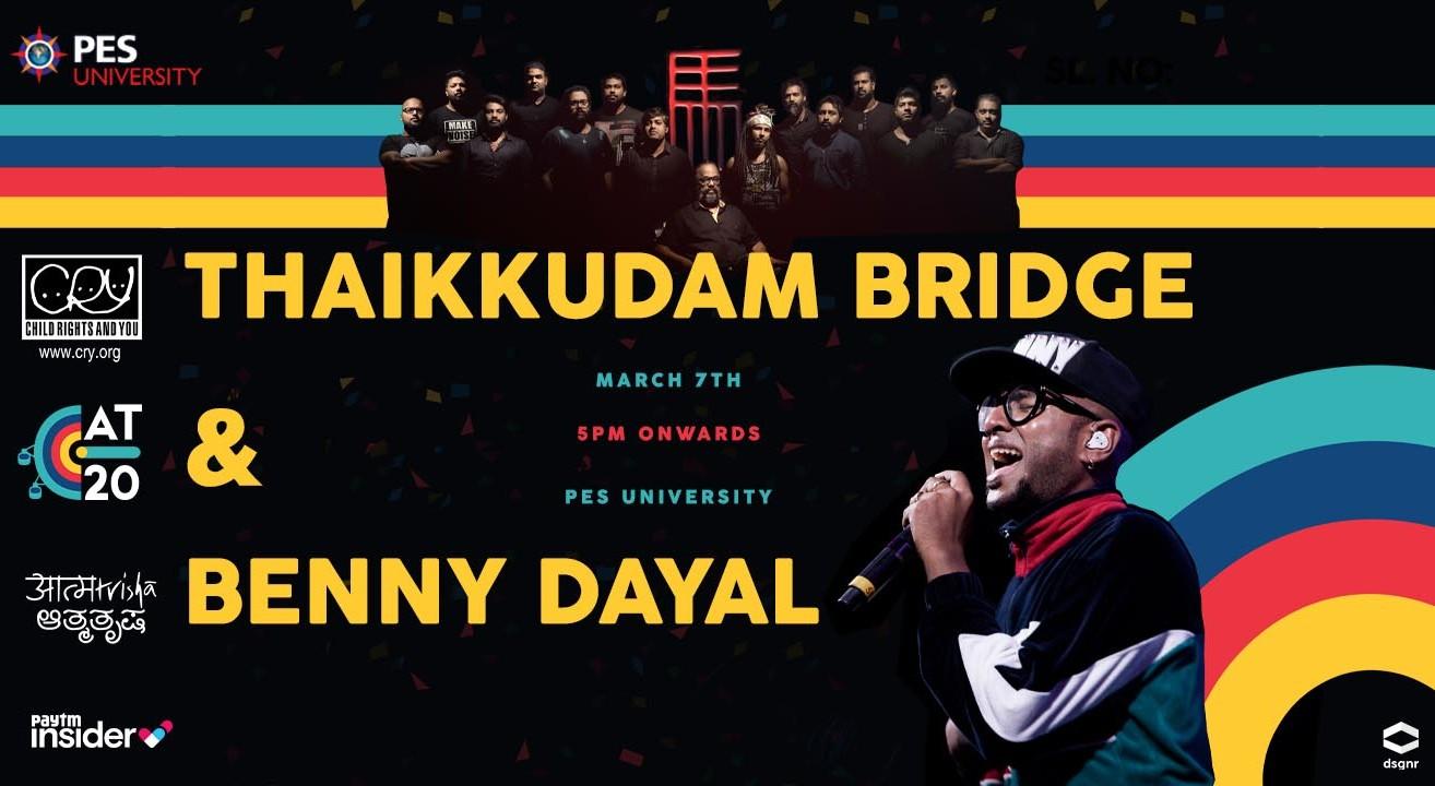 Thaikkudam Bridge and Benny Dayal Live at Aatmatrisha 2020