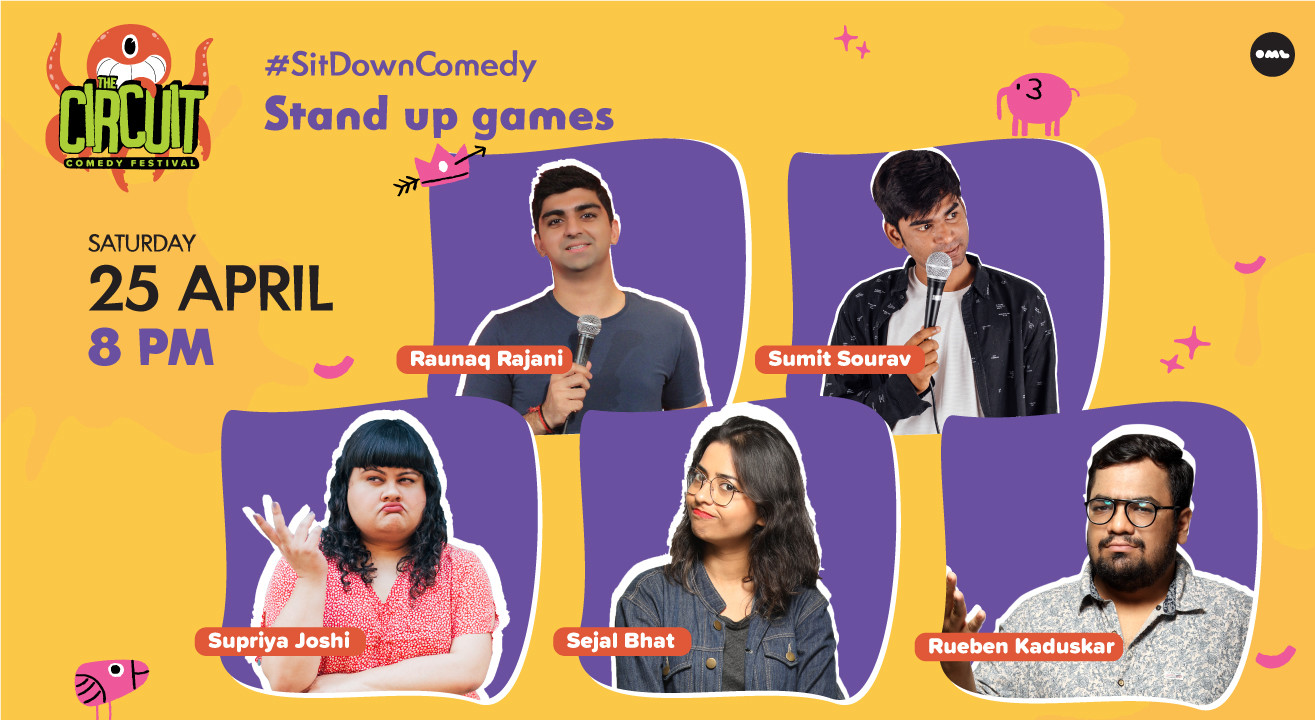 Stand up games Hosted by Rueben Kaduskar ft. Raunaq Rajani & More