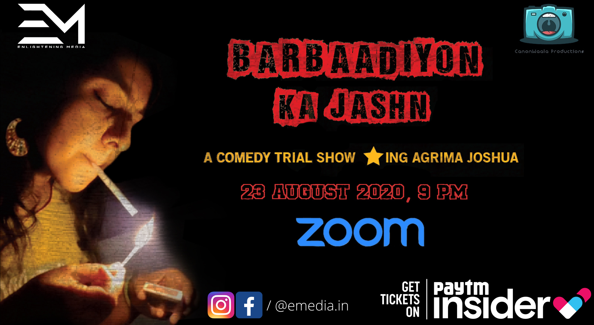 Barbaadiyon Ka Jashn By AGRIMA JOSHUA – A Comedy Trial Show