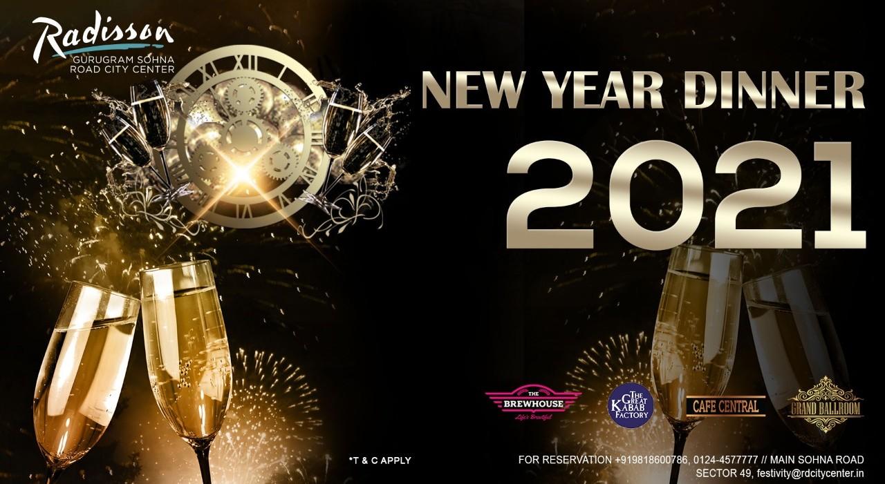 New Year 2021 @ Radisson Gurugram Sohna Road