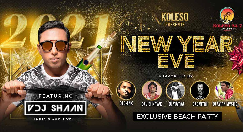 New Year Celebrations 2021 at Koleso With Indias No 1 VDJ – VDJ Shaan