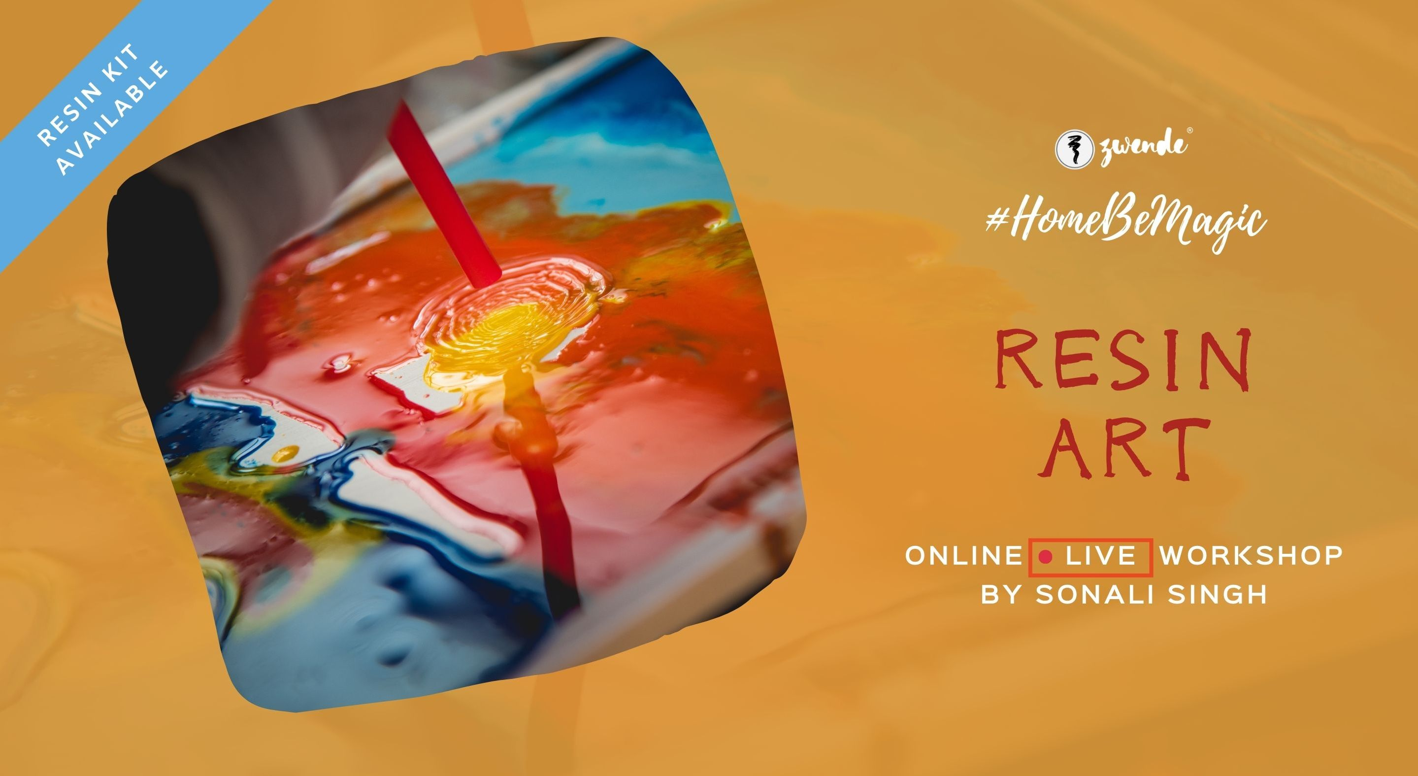 Resin Art [Online Live Masterclass – Materials Kit Available]