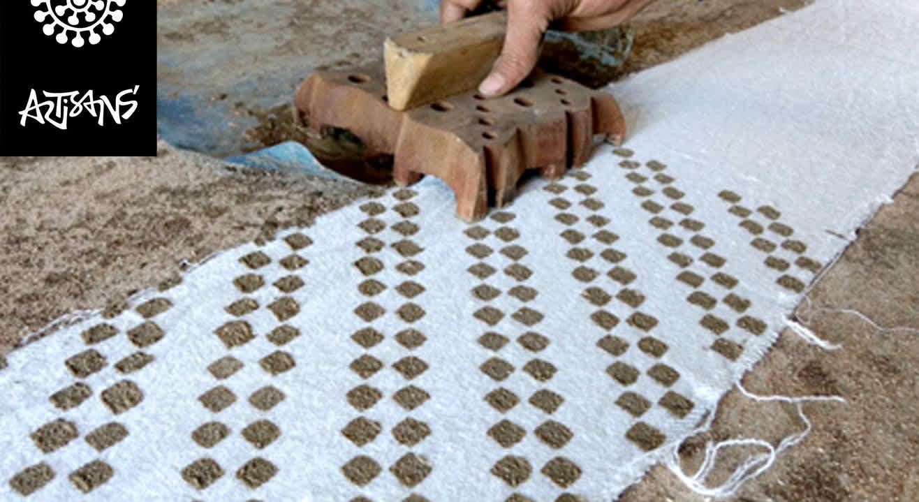 Dabu Blockprinting Workshop  by Master Craftsmen Dhiraj Chippa - Iteeha