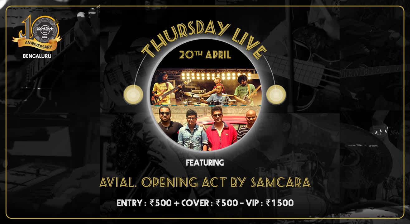 Avial. Opening act by Samcara - Thursday Live!