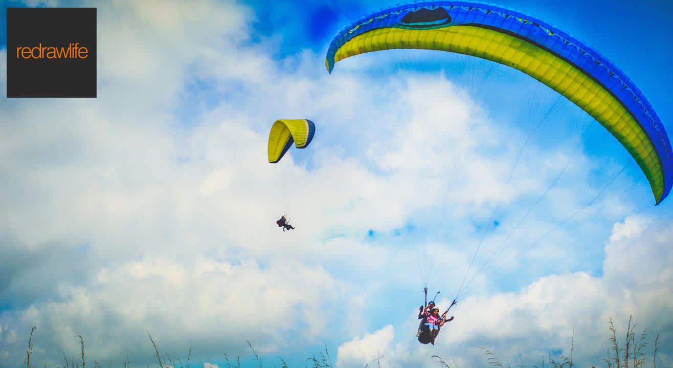 Tandem Paragliding At Vagamon