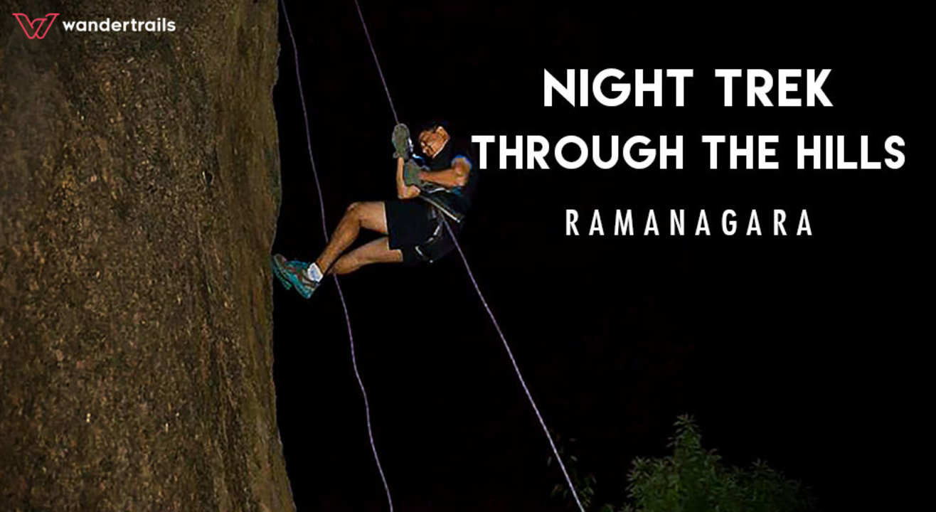 Night trek through the hills of Ramanagara