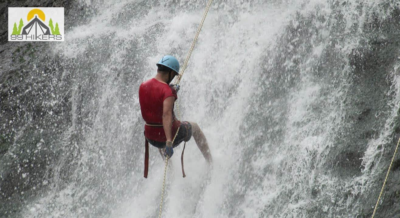 Waterfall Rappelling At Diksal