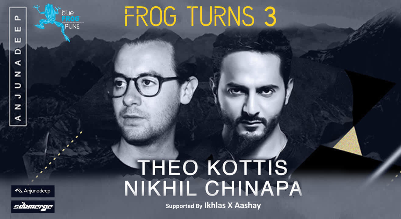 Frog Turns 3!  Theo Kottis and Nikhil Chinapa at blueFROG Pune