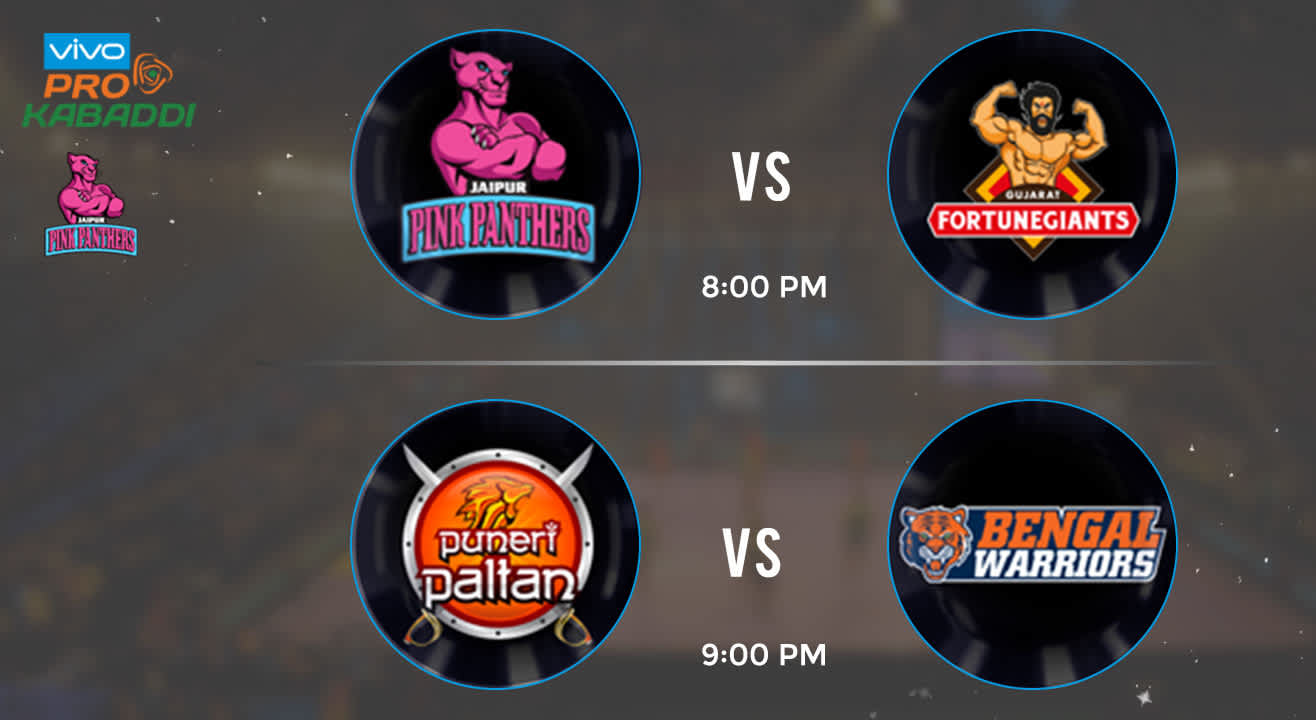 Pro Kabaddi Tickets - Jaipur Pink Panthers vs Gujarat Fortune Giants & Puneri Paltan vs Bengal Warriors