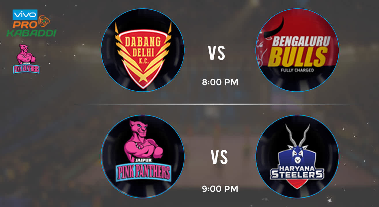 Pro Kabaddi Tickets - Dabang Delhi vs Bengaluru Bulls & Jaipur Pink Panthers vs Haryana Steelers