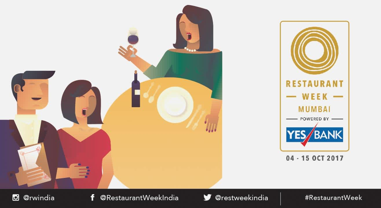 Restaurant Week Mumbai powered by YES BANK: October 4th – 15th, 2017
