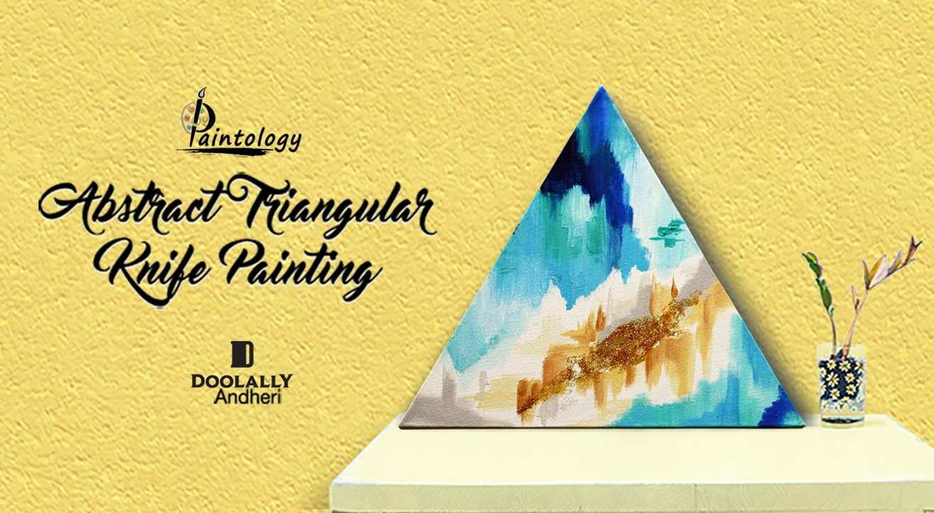 Abstract Art on Triangular Canvas by Paintology