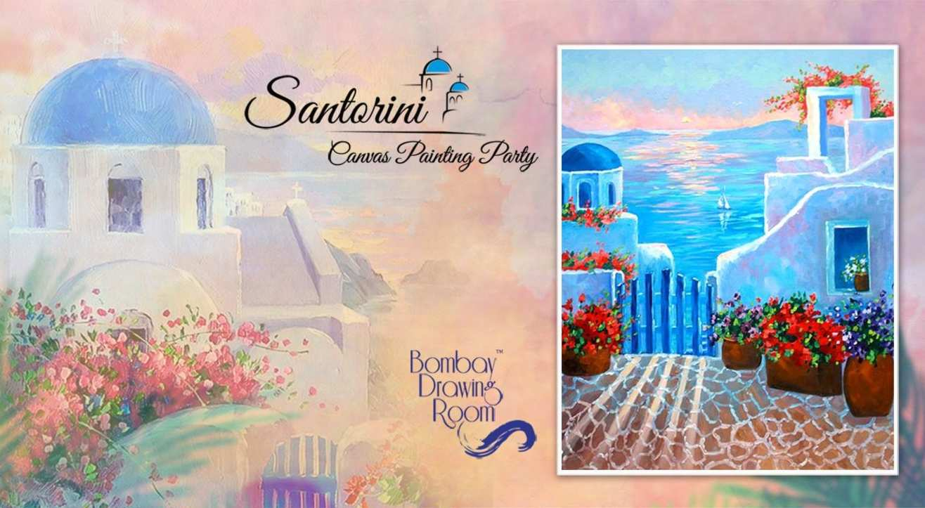 Santorini - Canvas Painting Party