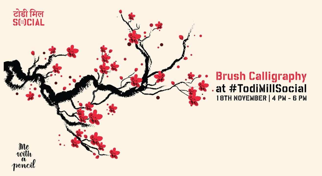 Brush Calligraphy at #TodiMillSocial
