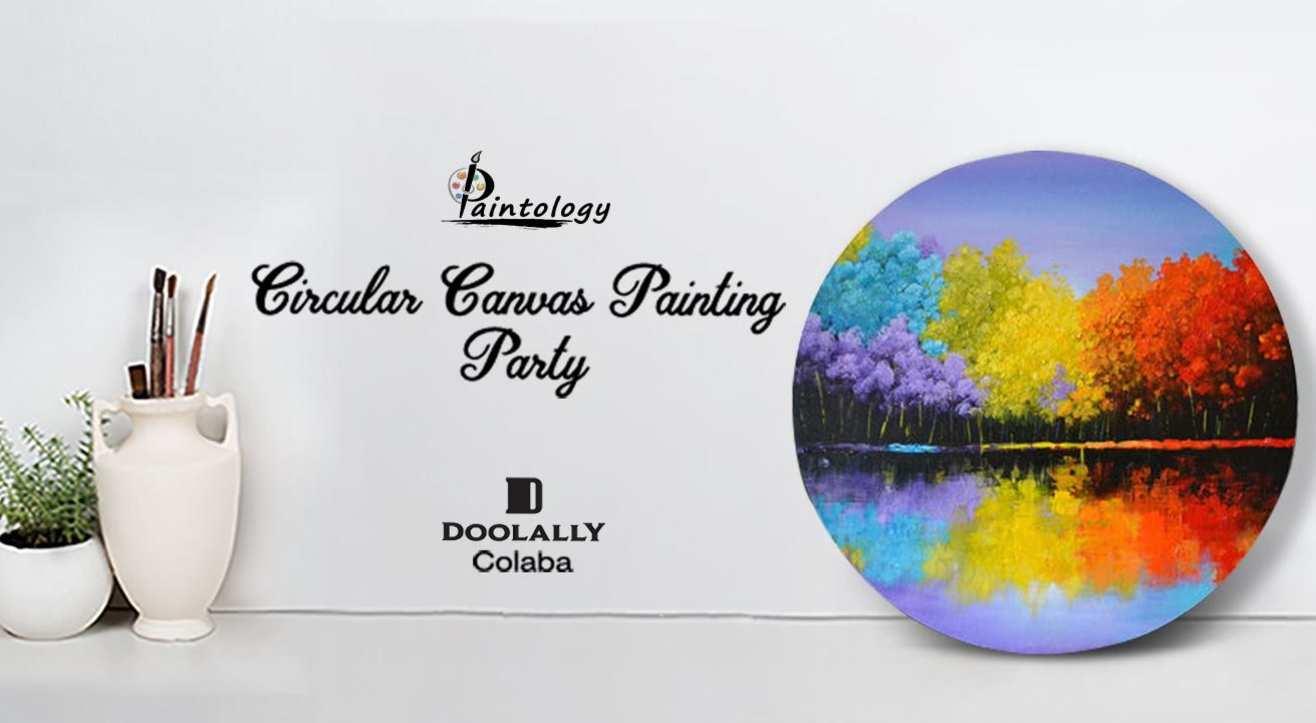 Circular Canvas Painting Party