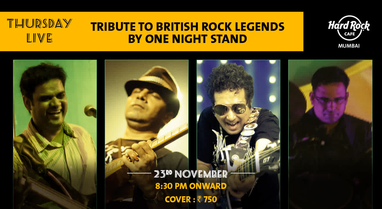 Tribute to British Rock Legends by One Night Stand - Thursday Live!