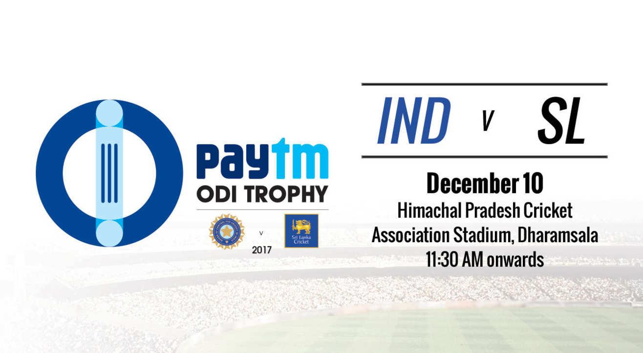 Paytm ODI Trophy - India vs Sri Lanka