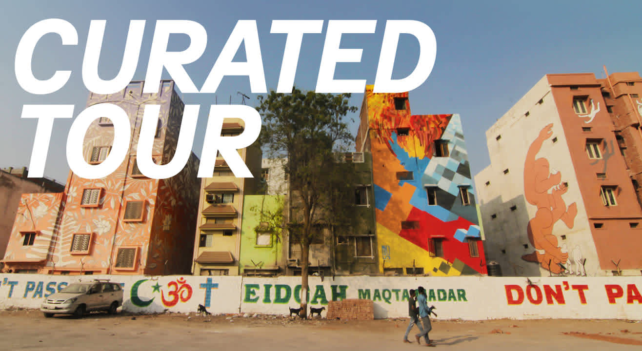 Curated tours of Maqtha Art District by St+art Hyderabad