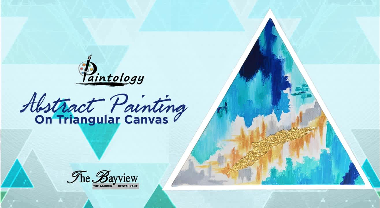 Abstract painting on Triangle Canvas