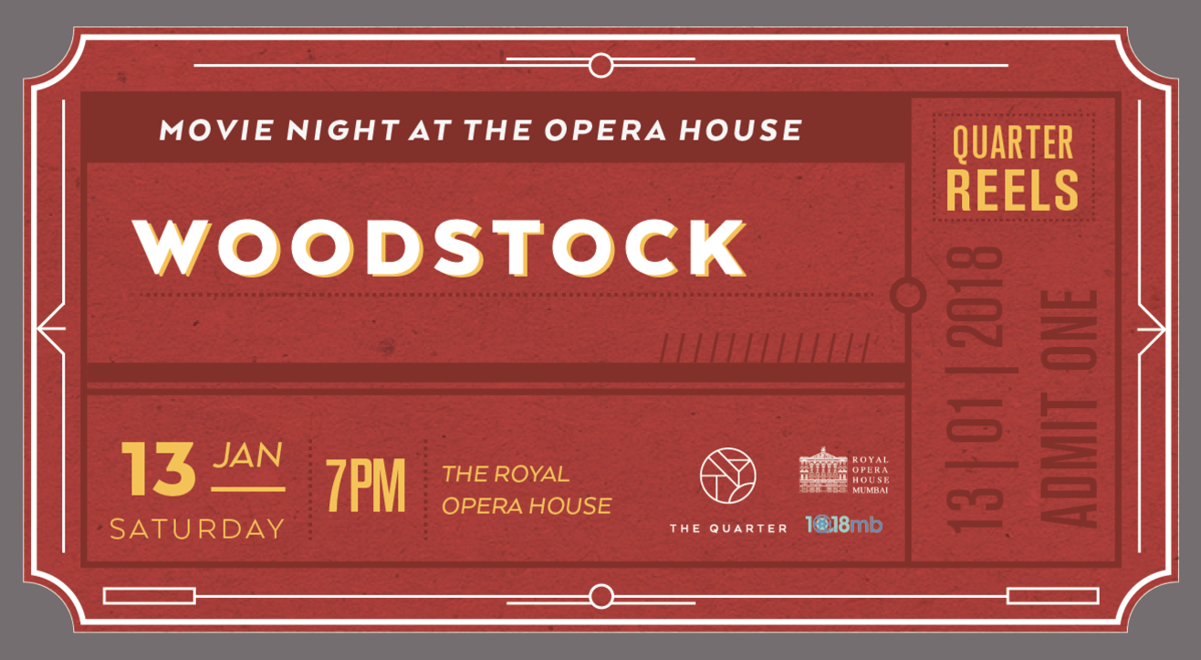 The Quarter Presents: Movie Night - Screening of Woodstock