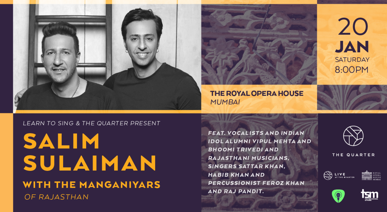 Learn to Sing & The Quarter Present: Salim Sulaiman w/ the Manganiyars of Rajasthan