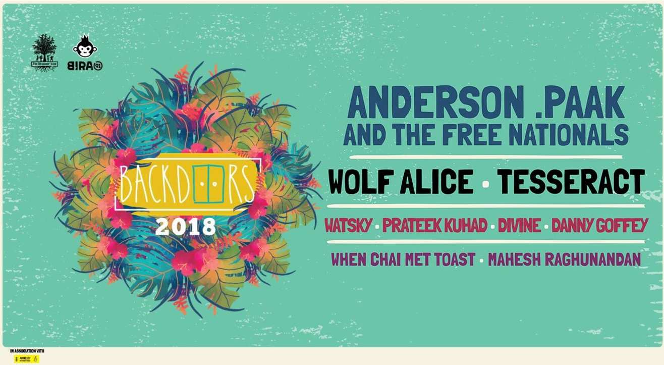 The Humming Tree's Backdoors 2018: Anderson .Paak and The Free Nationals, Wolf Alice, TesseracT & More!