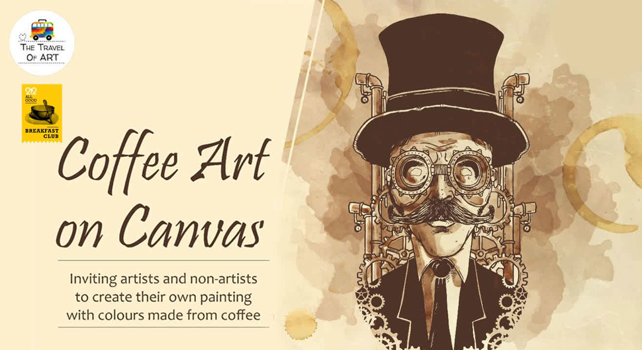 Coffee Art on Canvas with Artist Ritu Dua