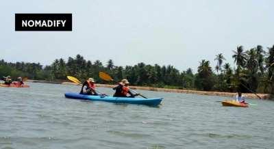 Kayaking for 20KM