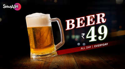 Beer at Just 49 at Smaaash!