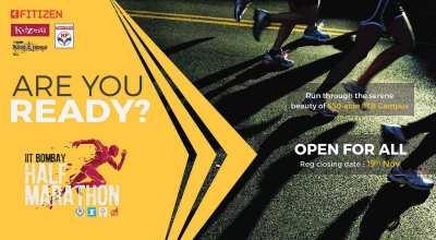 IIT Bombay Half Marathon 2017 organized by Fitizen India