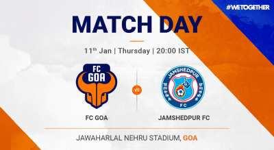 ISL:  FC Goa VS Jamshedpur FC