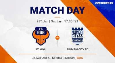 ISL: FC Goa VS Mumbai City FC