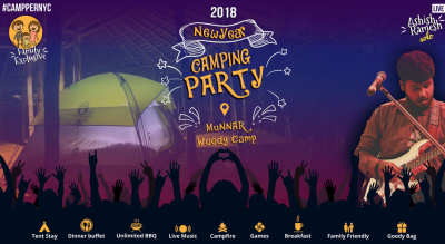 Family Frenzy New-year Camping Party in Munnar
