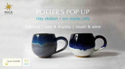 Potter's POP UP: Clay station + Om made cafe