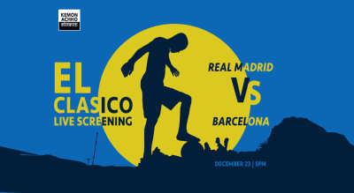 El Clasico Real Madrid vs Barcelona Live Screening at Hoppipola Spencer's Mall, Kolkata