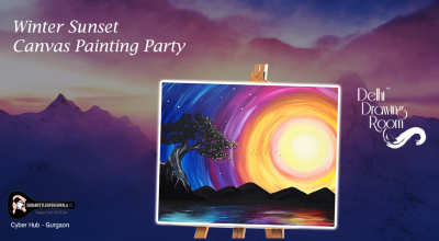 Winter Sunset - Canvas Painting Party