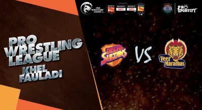 Pro Wrestling League: Delhi Sultans vs Veer Marthas