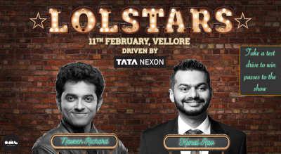 LOLStars ft. Kunal Rao & Naveen Richard, Vellore