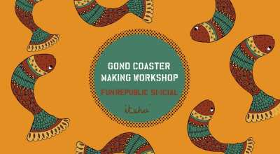 Gond Coaster Making Workshop at #FunRepublicSocial