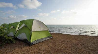 Camping at Kashid beach